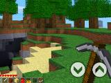 Using a pickaxe in PlayCraft 3D