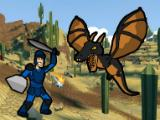 Fighting a dragon in Angeldust