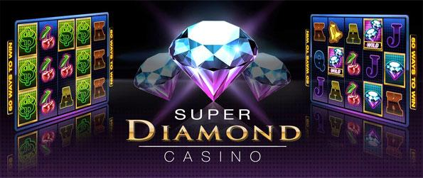 Super Diamond Casino - Enjoy a huge variety of machines and a special High Roller slot with daily prizes.