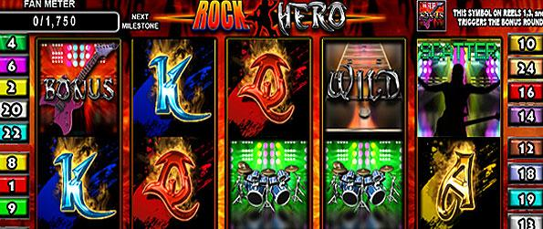Epic Slots: Rock Hero - Go on an incredible tour and play to your heart's content as you play onto the reels of fortune in Epic Slots: Rock Hero!