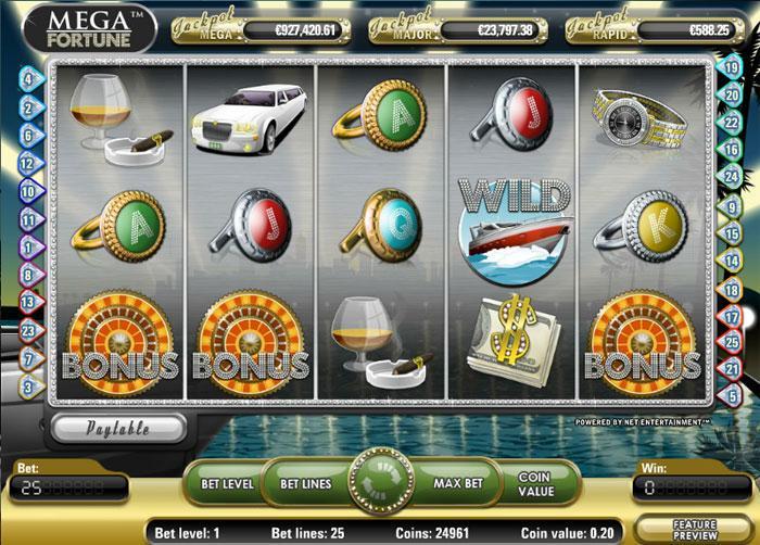 online slots games mega fortune