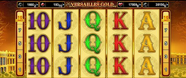 Versailles Gold Video Slot - Versailles Gold video slot is a 5 reel, 10 line slot will take you back to a time of luxury and sophistication with its accompanying motif.
