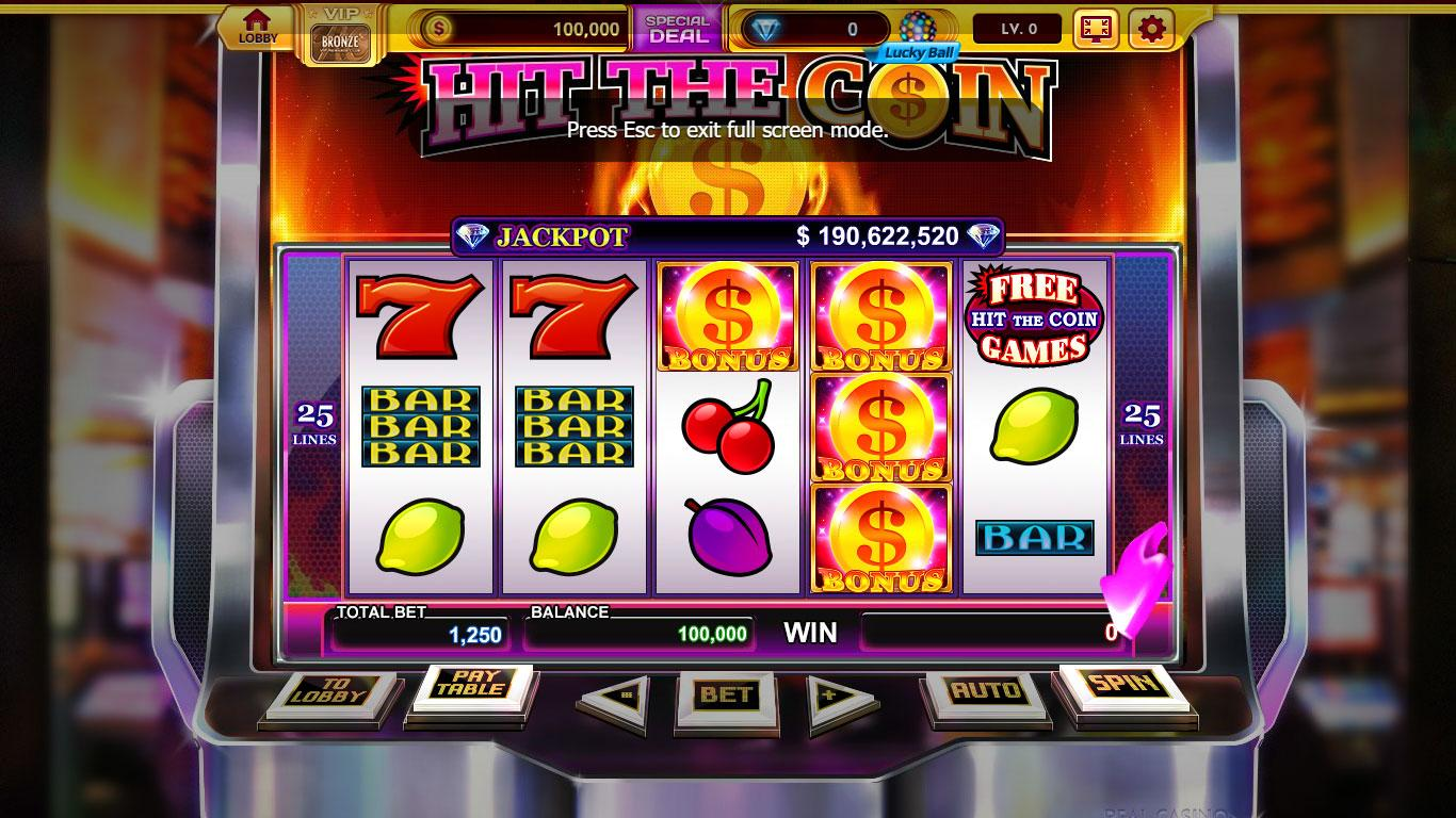 free real casino slots games