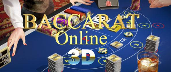 Baccarat Online 3D - Be a player or banker.