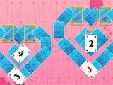 Solitaire Valentine's Day 2 heart shaped layout