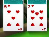 Solitaire Magic Cards 2: The Fountain of Life Three and Seven of Hearts