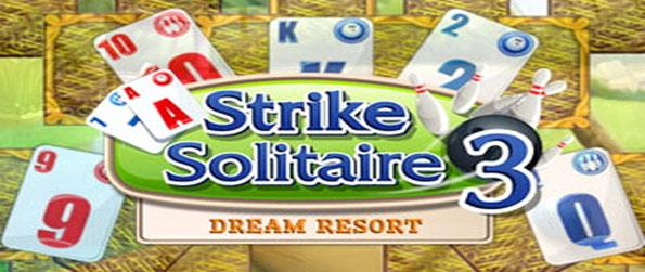 Strike Solitaire 3: Dream Resort - Enjoy a fun solitaire game with unique levels and a bowling theme.
