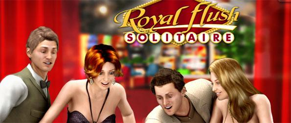Royal Flush Solitaire - Play a poker style solitaire game where you have to move the cards with the best poker hands you can make.