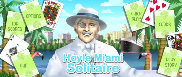 Hoyle Miami Solitaire - Enjoy the collection of 55 different solitaire games, 100 levels of tournament play, and 2 game modes - all in one solitaire game title.