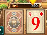 Egyptian Pyramid Solitaire Timed Scene