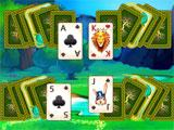 the layout in Paradise Solitaire
