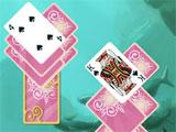 Pink card backs in Doodle God Solitaire
