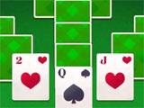 Tripeaks Solitaire: Green cardbacks