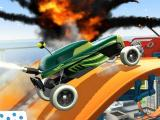 Racing through an explosion in Hot Wheels: Race Off