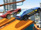 Racing against an opponent in Hot Wheels: Race Off