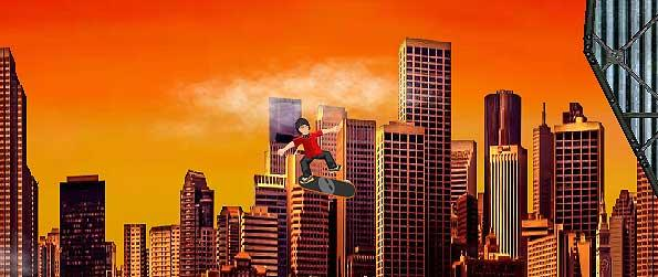 Skate Mania - Perform skateboard stunts over the city streets while coursing through the lot of hindrances and hazards in Skate Mania.