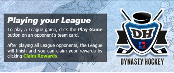 Dynasty Hockey - Manage your very own hockey team and guide it through the leagues.