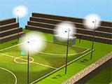 Built a soccer field in Voxelus