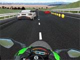 Collect coins in VR Traffic Bike Racer