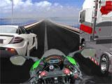 VR Traffic Bike Racer: Sandwiched in between