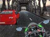 Overtaking a car in VR Traffic Bike Racer