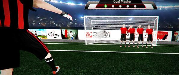 GoalMaster VR - Show off your awesome footballing skills by scoring as many goals as you can in GoalMaster VR!