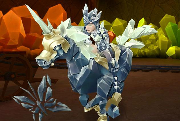 A beautiful crystalline horse in Wizard 101