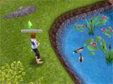 The Sims Free Play: feeding the ducks