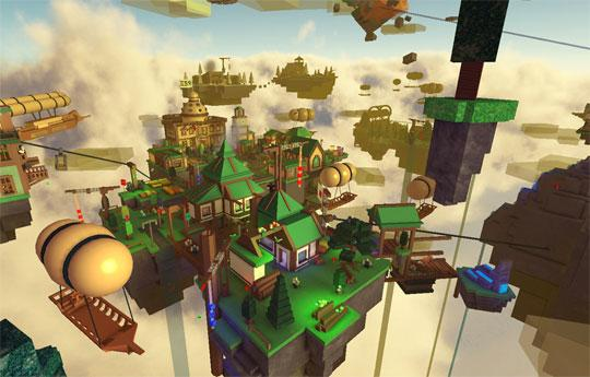 Build a City in The Sky in Roblox