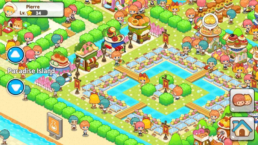 Restaurant paradise sim game virtual worlds land