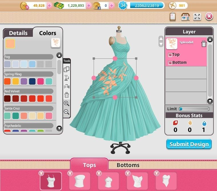 Free online fashion games with levels 99