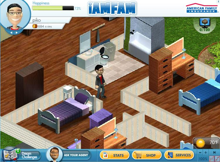 Iamfam virtual worlds land for Virtual house building games online