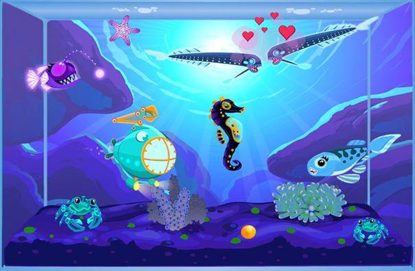 happy aquarium spiel