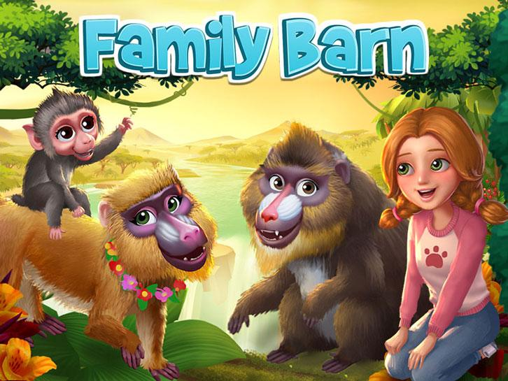 An Ape Family Gets a New Addition in Family Barn